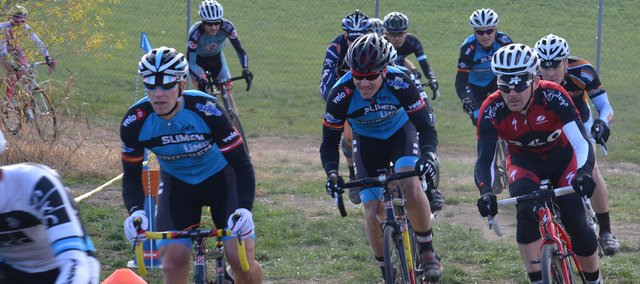 Cyclocross contestants compete in a Nov. 3 race sponsored by localcycling.com at Charles J. Stump Park in Shawnee.
