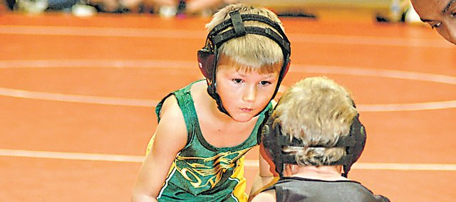 Garrett McMillen was one of 56 youth wrestlers to compete for the Bobcat Wrestling Club in 2011, a number expected to grow to 80 this year.