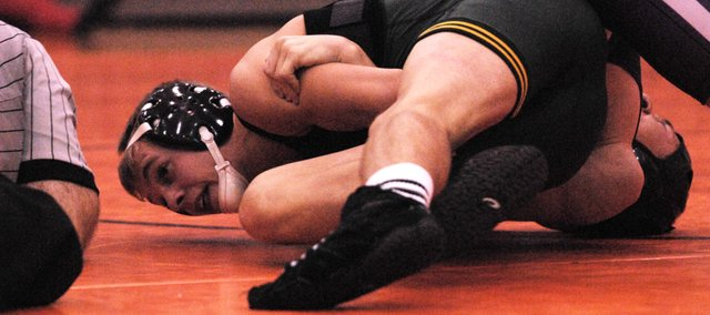 BLHS senior Sammy Seaton picked up two victories on Thursday against Bonner Springs and Piper to kick off the 2012-13 season.