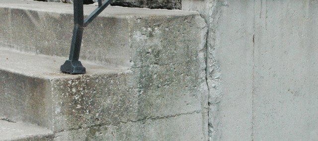 Many metro-area homes have cracks in foundations and other concrete and stonework, like the steps above, thanks to the 2012 drought.