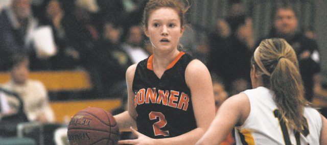 BSHS senior Anna Deegan led the Braves to a 59-45 victory against Basehor-Linwood Tuesday, scoring 20 points.