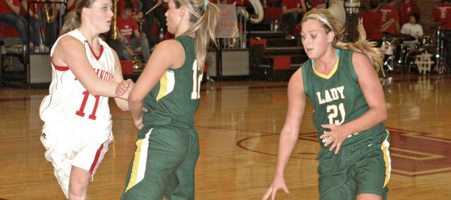 Jamie Johnson led all scorers with 21 points, but Basehor-Linwood couldn't capitalize on a hot start Friday at Tonganoxie.