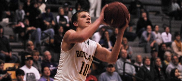 Tim Sanders led the BLHS boys basketball team with 27 points, shooting 11-of-12, in a 69-50 victory at Tonganoxie on Friday.