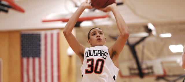 SMNW junior Brady Skeens scored 17 points and went 10 of 13 from the free throw line during the Cougars' 61-42 loss to SM South on Monday.
