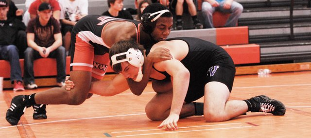 SMNW junior LaPhonso McKinnis won the 170-pound title on Saturday at the Johnson County Classic at Blue Valley High.