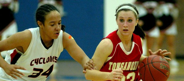 Hannah Kemp scored a game-high 19 points in Tonganoxie's 56-46 win Tuesday against Bishop Ward.