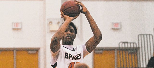 BSHS senior Tyler Howell scored seven points with 12 rebounds on Tuesday in the Braves' 67-43 loss to Piper.