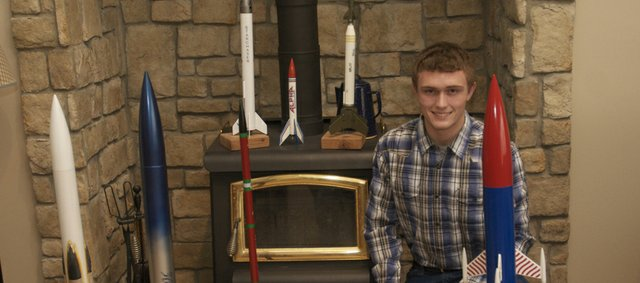 Colton Horne recently was named the Senior of the Year for the U.S. National Guard's STARBASE program. He hopes the recognition and his interest in technology, which includes building rockets, will help him get an appointment to the U.S. Naval Academy after he graduates this spring from Baldwin High School.