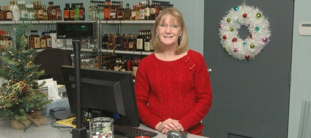 LaDonna Shipman offers a fourth liquor store option in Tonganoxie with Suburban Liquor. The business opened in November in the former B and J Amoco convenience store.