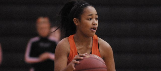SM Northwest sophomore Arielle Jackson scored 11 points and added three rebounds in the Cougars' 46-39 victory at SM West on Jan. 3.