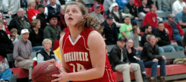 Katelyn Waldeier had her third double-double of the season in Tonganoxie's win at Anderson County.