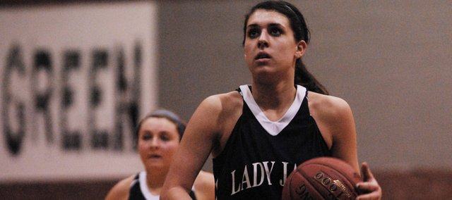 MVHS senior Stephanie Lichtenauer scored a game-high 18 points Tuesday in the Jaguars&#39; 56-28 victory at Basehor-Linwood.