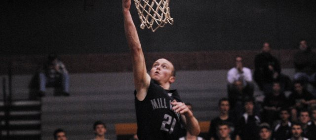 MVHS junior Wyatt Voorhes scored a game-high 19 points Tuesday against Basehor-Linwood.