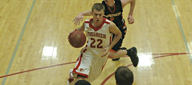 Eric Tate scored a team-high 15 points in Tonganoxie's win Tuesday against Bonner Springs.