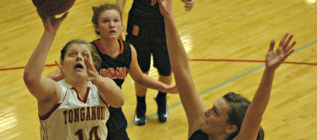 Katelyn Waldeier was limited to just seven points in Tonganoxie's loss to Bonner Springs on Tuesday.
