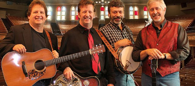 The Farm Hands, a Nashville, Tenn., bluegrass quartet will present a free concert at 7 p.m. Saturday at Monticello United Methodist Church. They are, from left, Kevin Williamson, Tim Graves, Bennie Boling and Daryl Mosley.