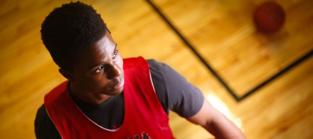 Ottawa High School senior Semi Ojeleye has the possibility to break the state record for scoring in a single season. The small forward has committed to play basketball for Duke. Nick Krug/Journal-World Photo