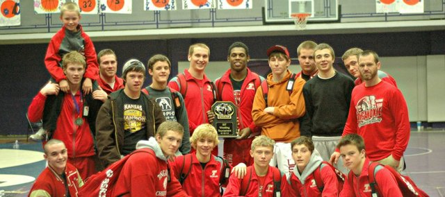 The Tonganoxie High wrestling team earned a second-place finish Saturday at the Baldwin Invitational.