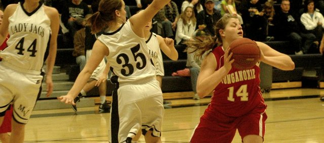 Katelyn Waldeier had 11 points and seven rebounds in the Chieftain girls' loss at Mill Valley.