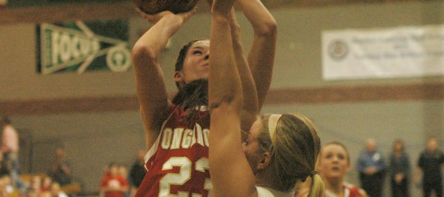 Jenny Whitledge surpassed the 1,000-point mark in Tonganoxie's win Tuesday at Basehor-Linwood.