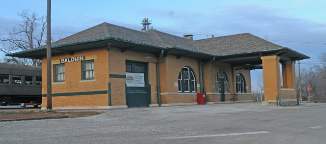 The Baldwin City Council is seeking a grant to help spruce up the historic Santa Fe Depot.