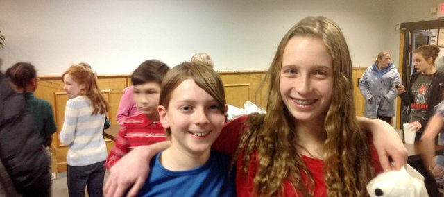 Sterling Hollond, left, and his sister Calder Hollond placed second and first, respectively, in the Leavenworth County Spelling Bee on Feb. 1.