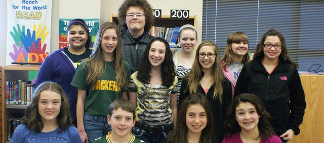 Basehor-Linwood Middle School students competed in the Kaw Valley League Spelling Bee in Tonganoxie Feb. 4.