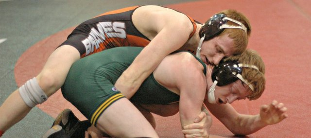 Josiah Seaton&#39;s 106-pound title helped Bonner Springs to a third-place finish at the Kaw Valley League tournament.