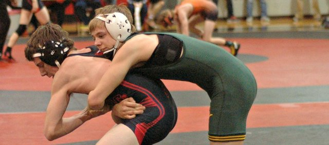 Sam Seaton won a 126-pound title and helped Basehor-Linwood to a fourth-place finish at the Kaw Valley League tournament.