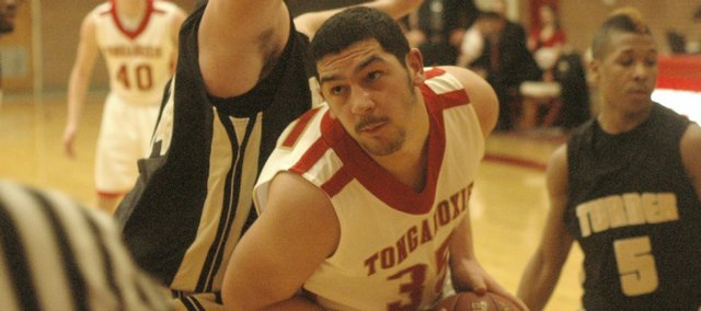 James Grizzle had eight points in Tonganoxie High's loss Tuesday against Turner.