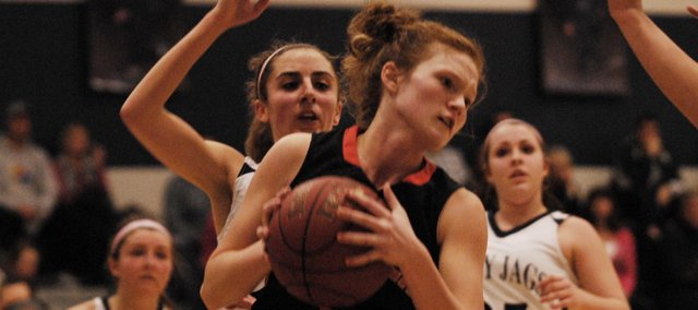 BSHS senior Anna Deegan scored a game-high 23 points in the Braves' 49-46 loss in overtime at Mill Valley on Tuesday, Feb. 12.