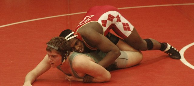 Julius Coats was one of seven Tonganoxie High wrestlers to clinch a state berth on Friday. The Chieftains wrapped up Friday's regional competition atop the team standings.