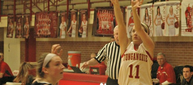 Emily Soetaert had a team-high 11 points, including three three-pointers, but THS couldn't get by Mill Valley on Tuesday.
