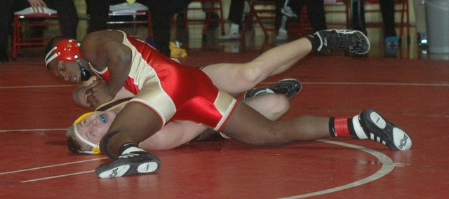 Senior Julius Coats is one of eight Tonganoxie High wrestlers who will represent their school Friday and Saturday at the Class 4A state tournament in Salina.