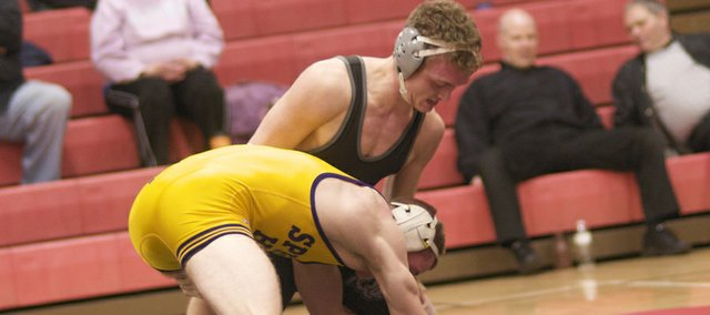 Senior Colton Horne is one of seven Baldwin High School wrestlers who will compete in the 4A state wrestling finals Friday and Saturday in Salina. Matches start at 4 p.m.