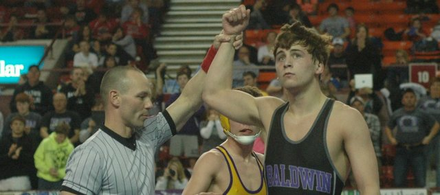 Bryce Shoemaker wrapped up his Baldwin High career with a 138-pound state title Saturday in Salina.