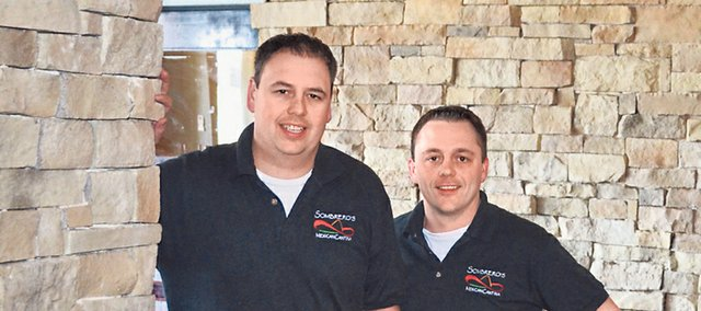 Brian Roberts, left, and his brother, Jeremy Roberts, have brought an upscale look and lots of experience to Sombrero's Mexican Cantina, 22702 Midland Drive.