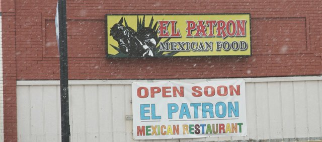 "An ""open soon"" banner that has hung from what is to be El Patron restaurant was joined last week by a permanent sign. That and an ongoing remodeling inside the restaurant indicate the promise of the banner that has be on display for five months will soon be realized."