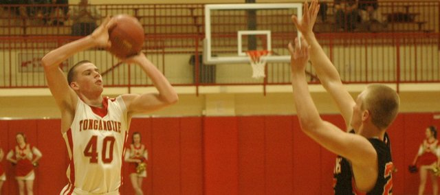 Jack Dale had 18 points in the Tonganoxie High boys' win against Bonner Springs on Wednesday.