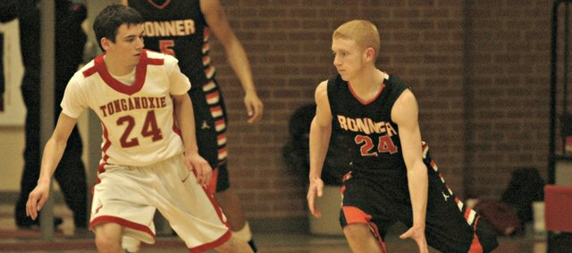 Logan Terrell had 11 points in the final game of his Bonner Springs career.