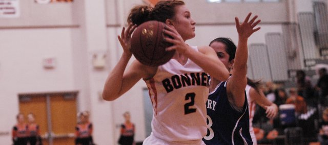 BSHS senior Anna Deegan finished with a game-high 20 points in the Braves' 66-35 victory against Perry-Lecompton in the first round of sub-state play on Wednesday.