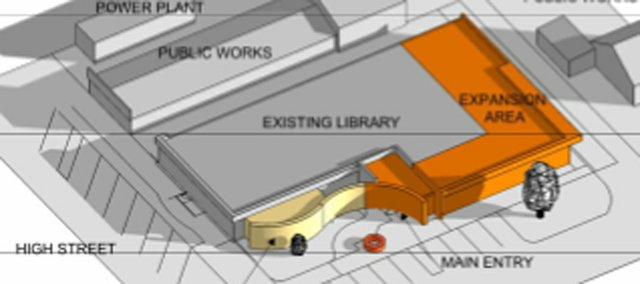 Zimmerschied Architecture of Lawrence shared this preliminary design of the expansion of the Baldwin City Public Library at a Feb. 27 library board meeting at which it was chosen to design the project.