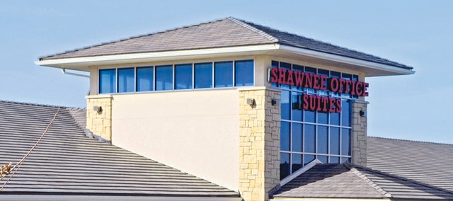 Two businesses have announced plans to move more than 60 jobs from Lenexa to the Shawnee Office Suites building, pictured, at 6840 Silverheel St.