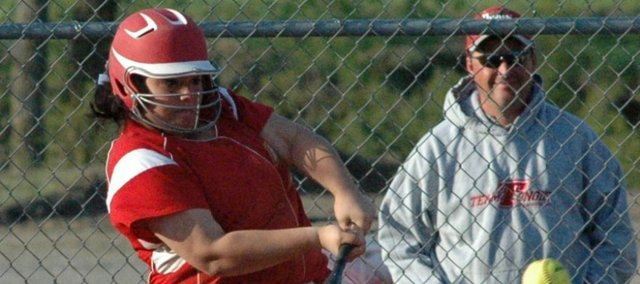 Junior Lainy Walker will look to anchor a Tonganoxie High infield with several voids left by last year's senior class.