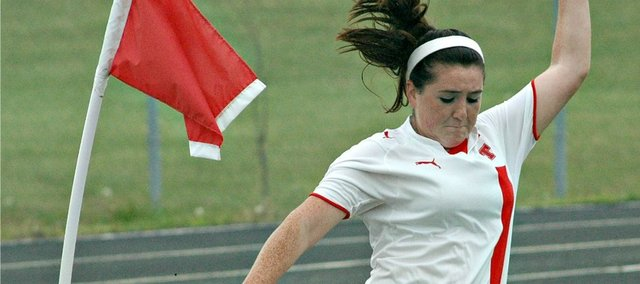 Senior Molly Welsh returns to the Tonganoxie High girls soccer team after scoring 11 goals last season.