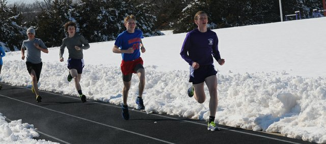 Although Baldwin High School teams found ways to practice, the weekend's snowstorm wrecked havoc on the openings of spring sports.