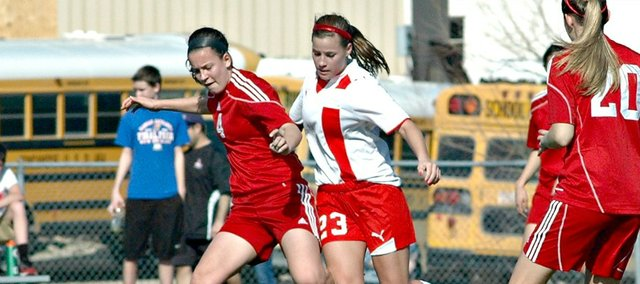 Madison Simmons had Tonganoxie's only goal in a 4-1 loss to Lansing on Friday.