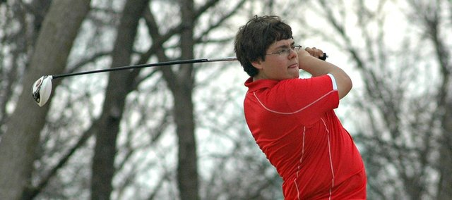 Austin Harris finished 12th individually and helped Tonganoxie to a second-place team finish at Saturday's Sunflower Classic.