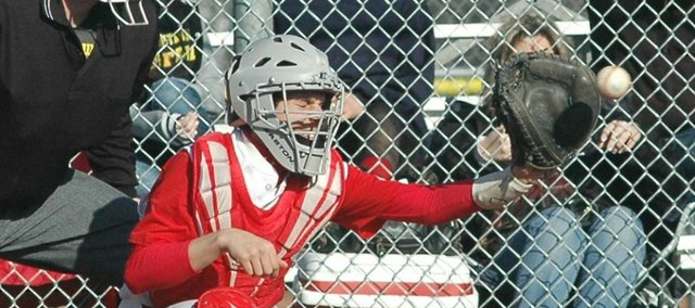 Sophomore Brady Swedo drove in Tonganoxie's only run Monday against Jeff West.