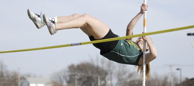 Allison Heinen edged teammate Madison Howard in a tiebreaker to win the pole vault event at Friday's Bobcat Relays.